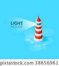lighthouse isometric vector 38656961
