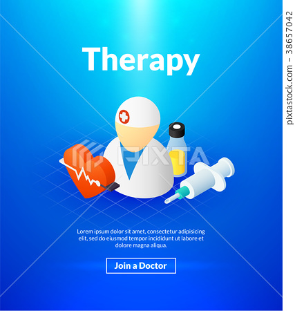 Therapy poster of isometric color design 38657042