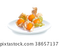 Gooseberry in white plate on white background 38657137