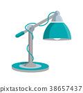 Reading lamp icon in flat style 38657437