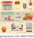 street, food, cafe 38657694
