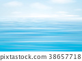 Vector blue sea   background. 38657718