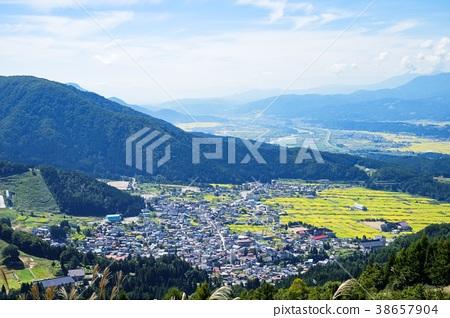 풍경, 경치, 마을 38657904