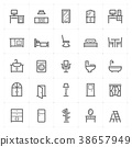Mini Icon set – Furniture icon vector illustration 38657949