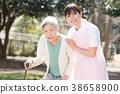간병인과 노인 여성 의료 복지 이미지 38658900
