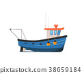 trawler, fishing, vector 38659184