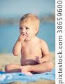 beach, baby, child 38659600