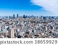 蓝天和都市风景东京市中心 38659929