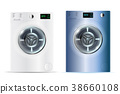 3d realistic vector washers. 38660108