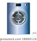 Washing machine isolated on white background.  38660116