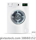 Washing machine on white isolated background. 3d 38660152