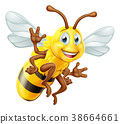 Honey Bee Cartoon Character 38664661