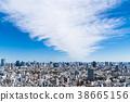 蓝天和都市风景东京市中心 38665156