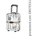 슈트케이스, 여행가방, 캐리어 38670331