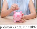 银行 河岸 小猪 38671092