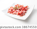 prosciutto, herb, background 38674550