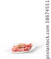 prosciutto, herb, raw 38674551
