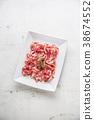 prosciutto, herb, background 38674552