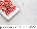 prosciutto, herb, slice 38674554