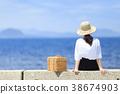 여성 여행 바다 38674903
