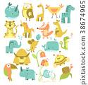 cute animals set 38674965
