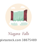 Niagara Falls. Natural landmark of Canada and USA 38675489