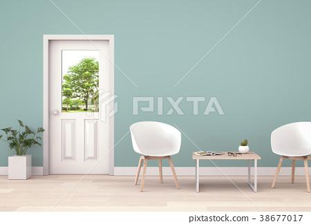 Living room interior in modern style, 3d render 38677017