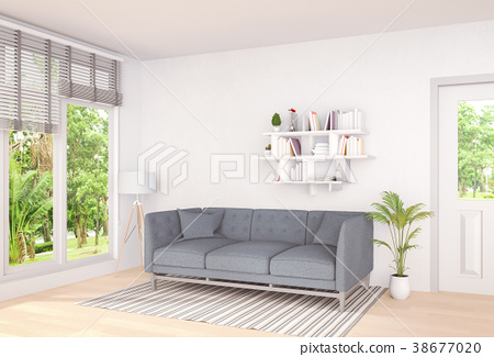 Living room interior in modern style, 3d render 38677020