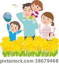 ครอบครัว,ฤดูใบไม้ผลิ,ดอกเรป 38679468