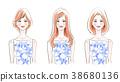 髮型目錄藍色夏裝 38680136