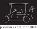 Line Design of Golf cart or golf car icon vector 38681848