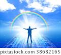 희망 미지 꿈 내일을 향해 인물 남성 푸른 하늘 미래 38682165
