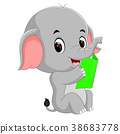 book, cute, elephant 38683778