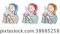여성, 여자, 상반신 38685258