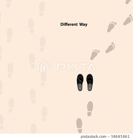 Footprints icon design vector template. 38685861