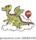 dragon, balloon, vector 38686308
