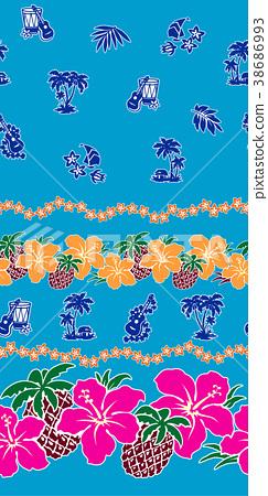 槿 熱帶 菠蘿 38686993