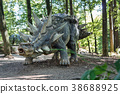 prehistoric dinosaur like stegosaurus in nature 38688925