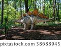 prehistoric dinosaur stegosaurus in nature 38688945