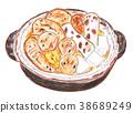 oden, kantodaki, earthenware pot 38689249