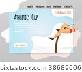 Pole vaulting, athletics competitions. Vector 38689606