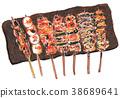 什锦烤鸡肉串 38689641