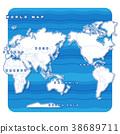 Sekai地圖白色背景圖(英語) 38689711