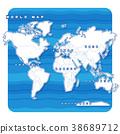 แผนที่โลก,แผนที่,อเมริกา 38689712