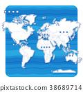 แผนที่โลก,แผนที่,อเมริกา 38689714