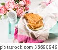 Festive breakfast flowers peanut butter bownies 38690949