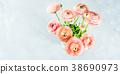Beautiful pink ranunculus bouquet 38690973