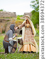 Young medieval knight and lady 38694372