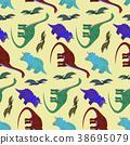 dinosaur, pattern, cute 38695079