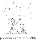 mother, son, sky 38695997